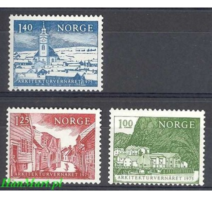 Znaczek Norwegia 1975 Mi 700-702 Czyste **