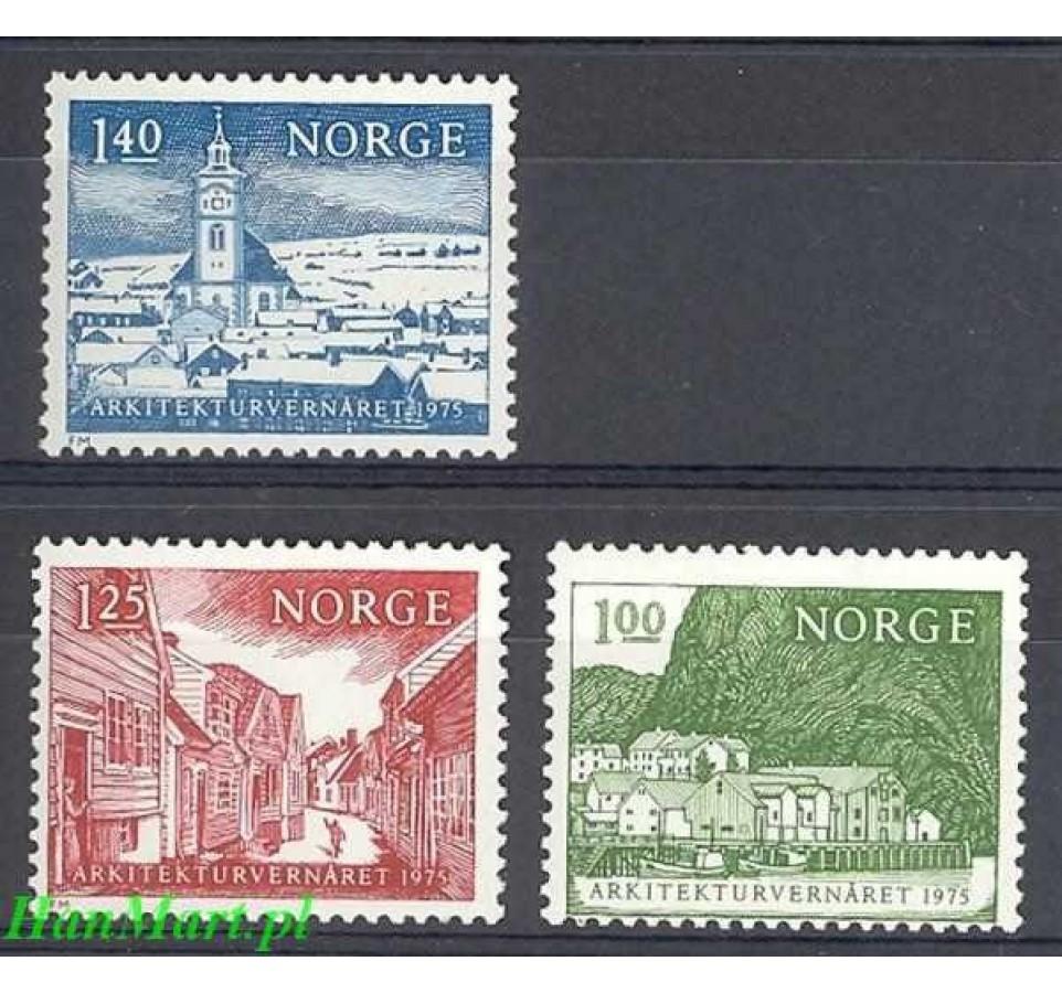 Norwegia 1975 Mi 700-702 Czyste **