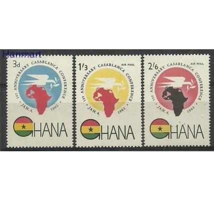 Znaczek Ghana 1962 Mi 115-117 Czyste **