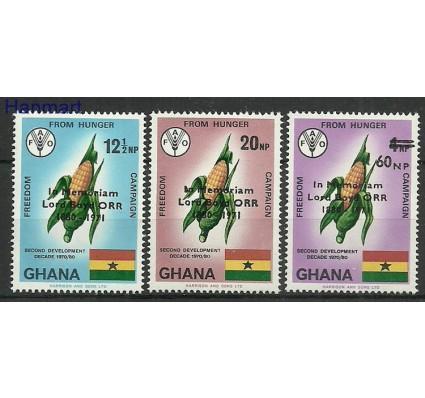 Znaczek Ghana 1971 Mi 450-452 Czyste **