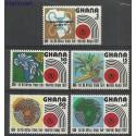 Ghana 1972 Mi 453-457 Czyste **