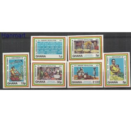 Znaczek Ghana 1973 Mi 492-497B Czyste **