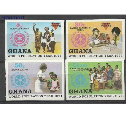 Znaczek Ghana 1974 Mi 577-580B Czyste **