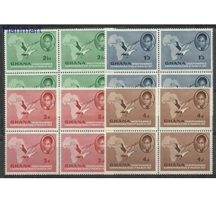 Znaczek Ghana 1957 Mi vie1-4 Czyste **