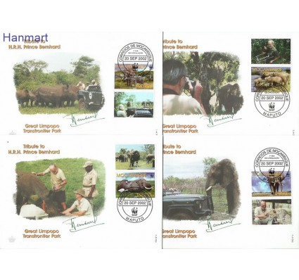 Znaczek Mozambik 2002 Mi zf2393-2396 FDC