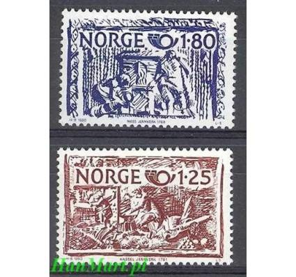 Znaczek Norwegia 1980 Mi 821-822 Czyste **