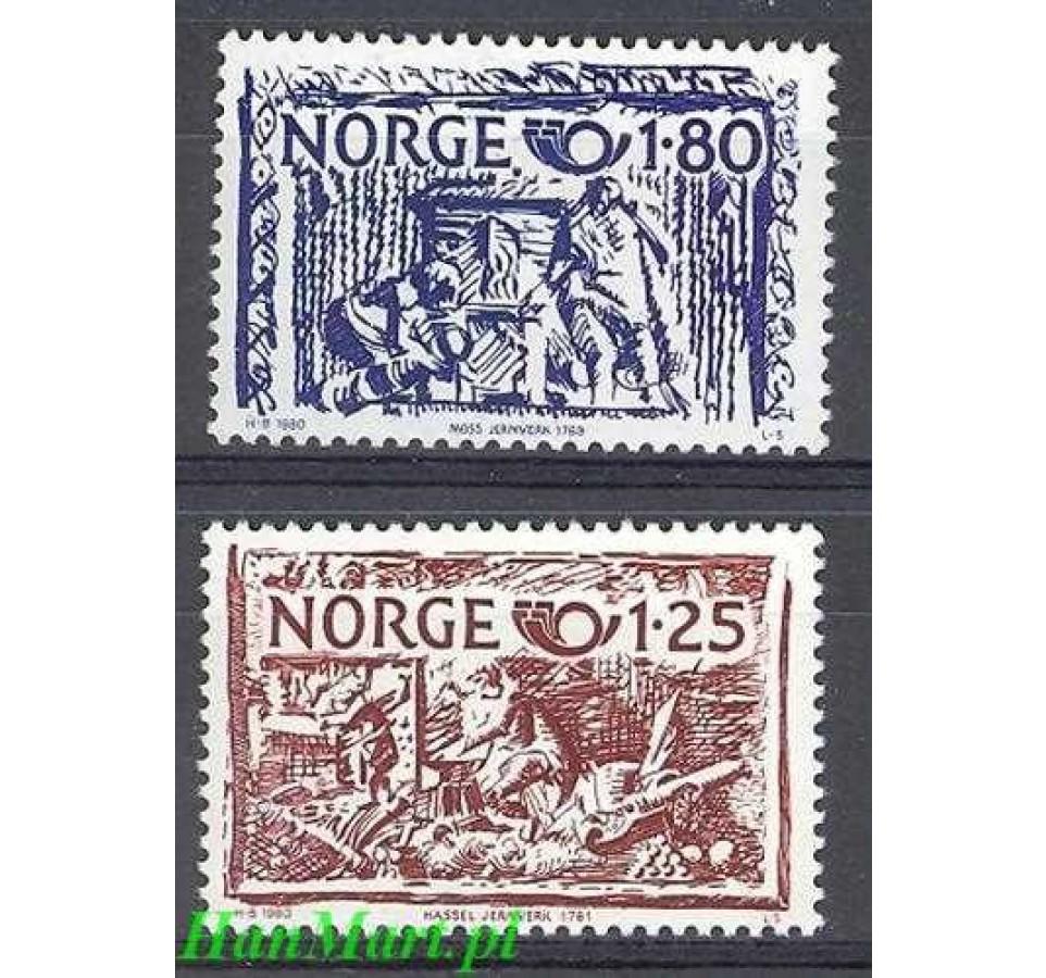 Norwegia 1980 Mi 821-822 Czyste **
