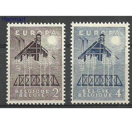 Znaczek Belgia 1957 Mi 1070-1071 Z podlepką *