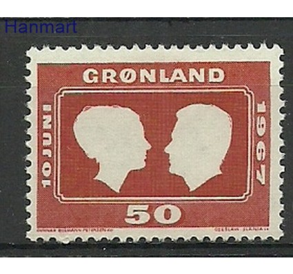 Znaczek Grenlandia 1967 Mi 67 Z podlepką *