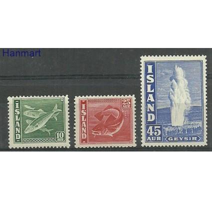 Znaczek Islandia 1940 Mi 215-217A Czyste **