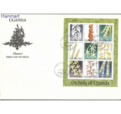Znaczek Uganda 1995 Mi ark1635-1643 FDC