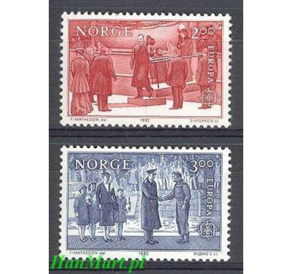 Norwegia 1982 Mi 865-866 Czyste **