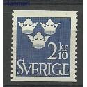 Szwecja 1954 Mi 401 Z podlepką *