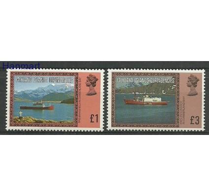 Znaczek Dependencja Falklandów 1980 Mi 91-92I Czyste **