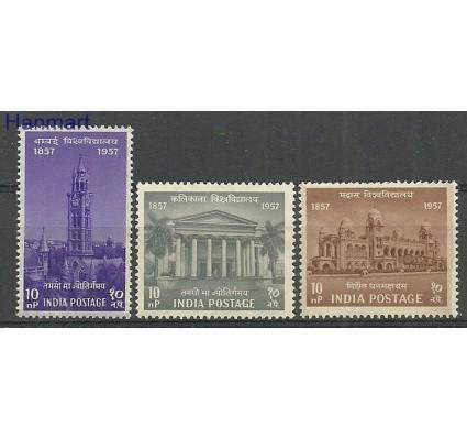 Znaczek Indie 1957 Mi 279-281 Czyste **