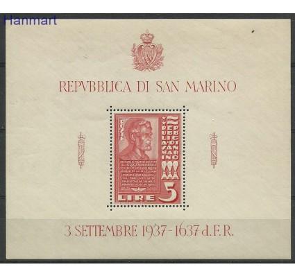 Znaczek San Marino 1937 Mi bl 3 Czyste **