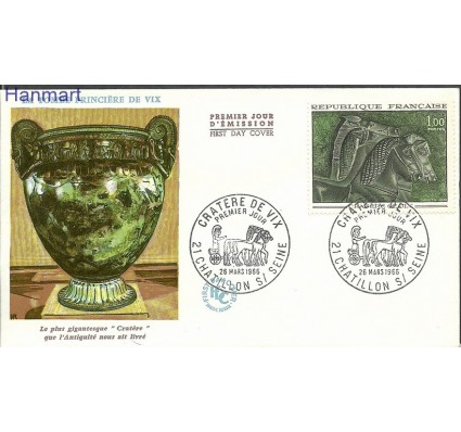 Znaczek Francja 1966 Mi 1541 FDC