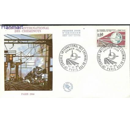 Znaczek Francja 1966 Mi 1550 FDC