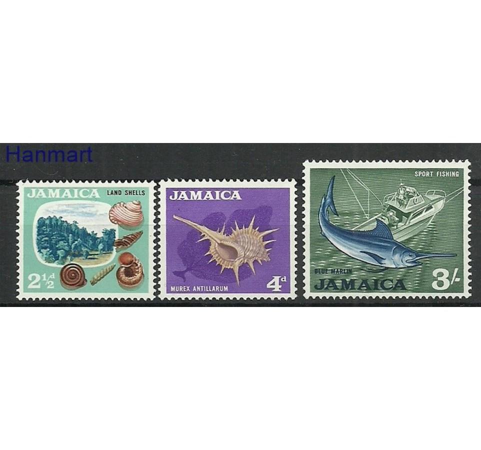 Jamajka 1964 Mi 222+224+231 Z podlepką *