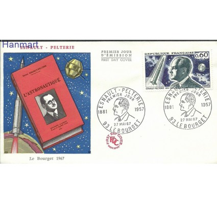 Znaczek Francja 1967 Mi 1583 FDC