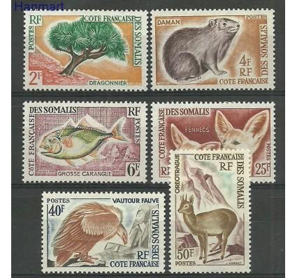 Znaczek Somali Francuskie 1962 Mi 336-341 Z podlepką *