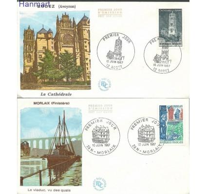 Znaczek Francja 1967 Mi 1585-1586 FDC