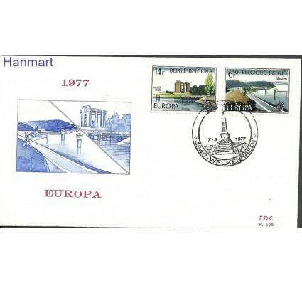 Znaczek Belgia 1977 Mi 1905-1906b FDC