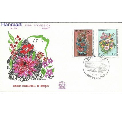 Znaczek Monako 1983 Mi 1602-1603b FDC