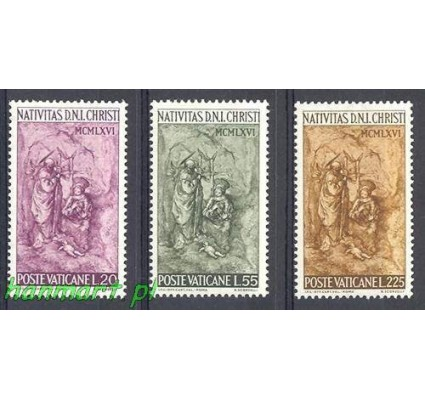 Watykan 1966 Mi 514-516 Czyste **