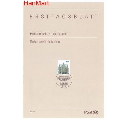 Znaczek Niemcy 1997 Pierwszy dzień wydania