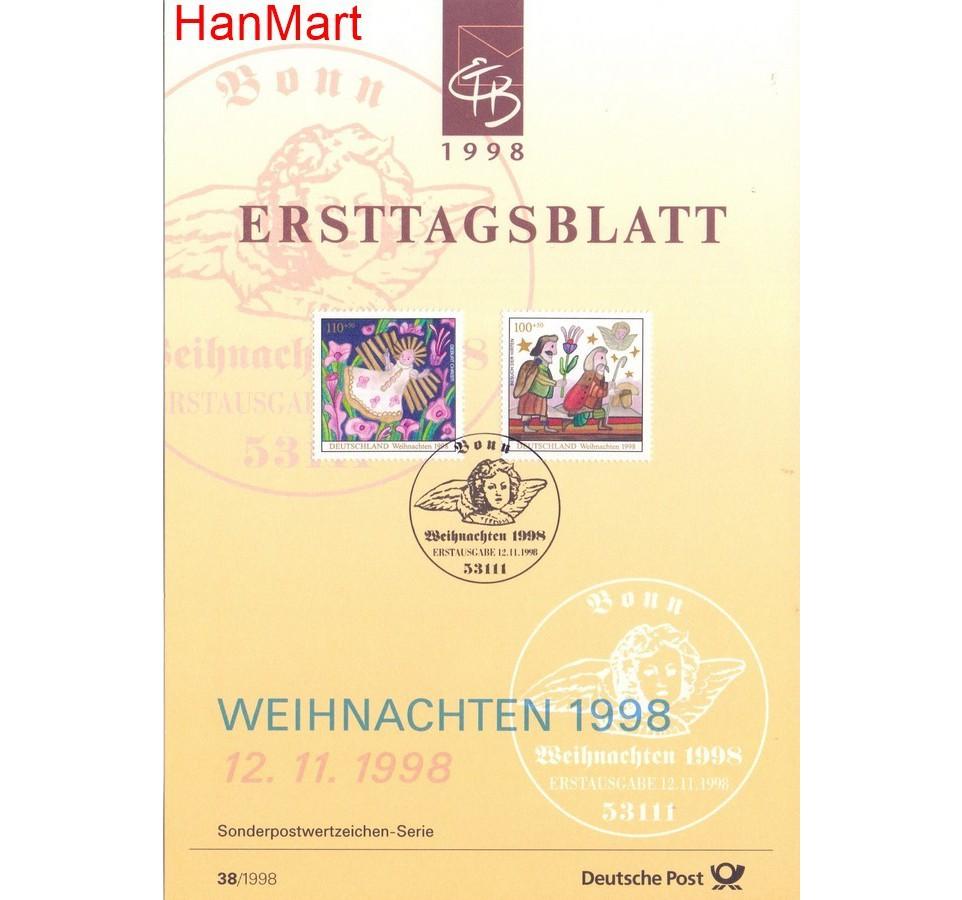 Niemcy 1998 Pierwszy dzień wydania