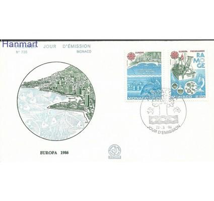 Znaczek Monako 1986 Mi 1746-1747b FDC