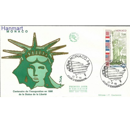 Znaczek Monako 1986 Mi 1760b FDC