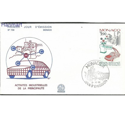 Znaczek Monako 1986 Mi 1768 FDC