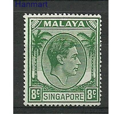 Znaczek Malaya 1952 Mi 8C Z podlepką *