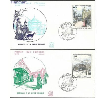 Znaczek Monako 1986 Mi 1769-1770b FDC