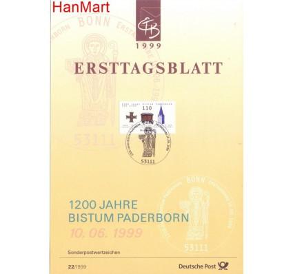 Znaczek Niemcy 1999 Pierwszy dzień wydania
