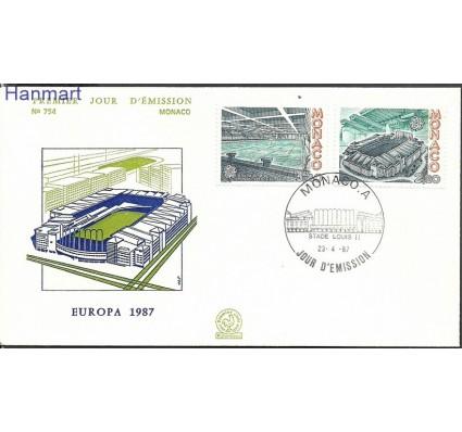 Znaczek Monako 1987 Mi 1794-1795 FDC