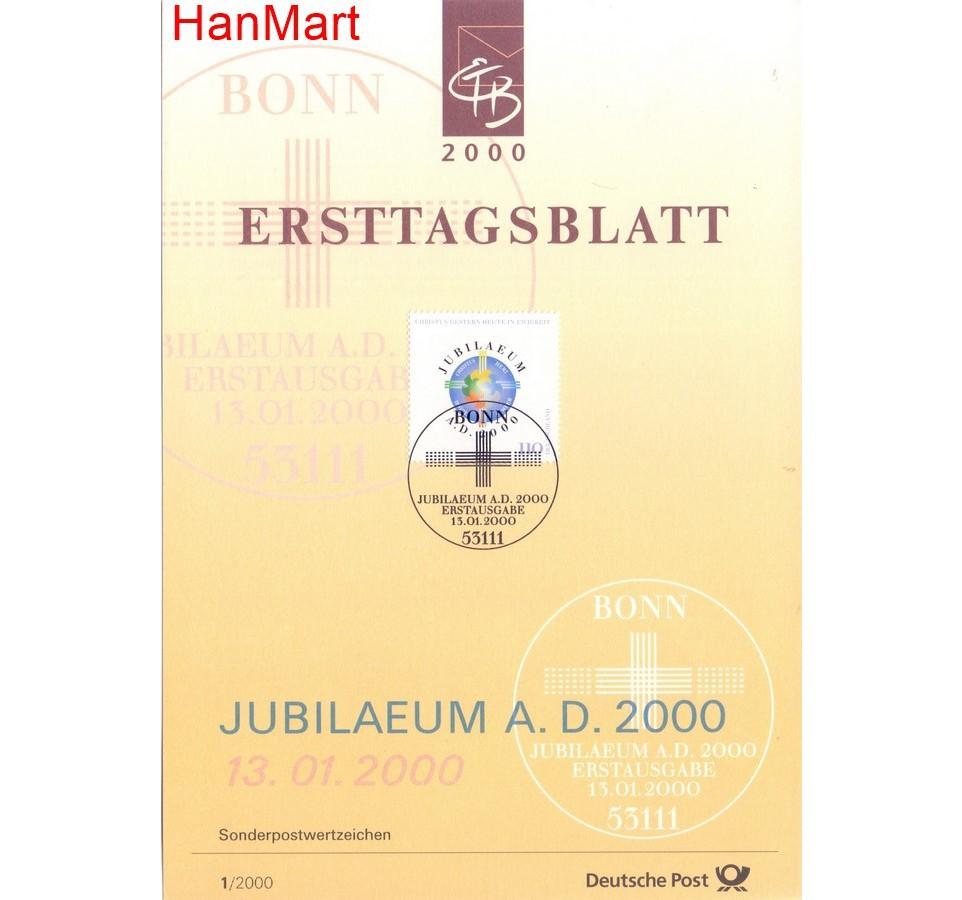 Niemcy 2000 Pierwszy dzień wydania