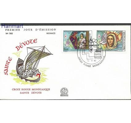 Znaczek Monako 1987 Mi 1823-1824 FDC