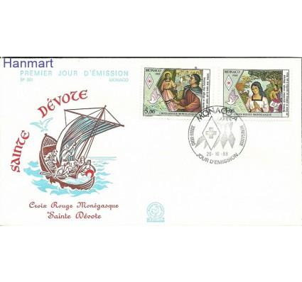 Znaczek Monako 1988 Mi 1882-1883 FDC