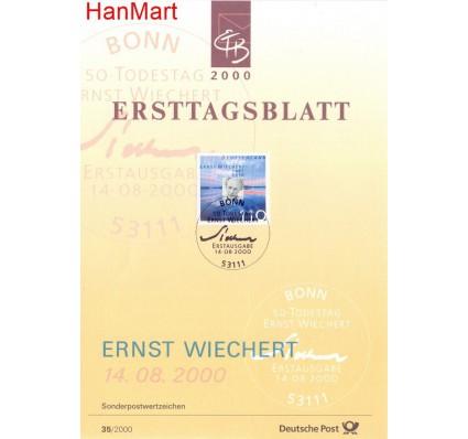Znaczek Niemcy 2000 Pierwszy dzień wydania