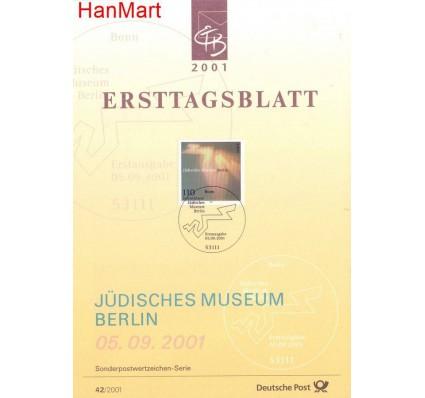 Znaczek Niemcy 2001 Pierwszy dzień wydania