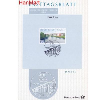 Znaczek Niemcy 2003 Pierwszy dzień wydania