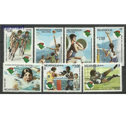 Znaczek Nikaragua 1982 Mi 2272-2278 Czyste **