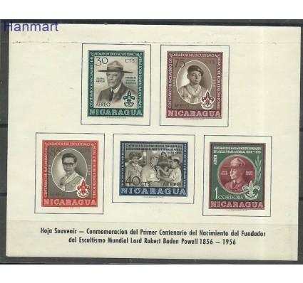 Znaczek Nikaragua 1957 Mi bl44 Czyste **