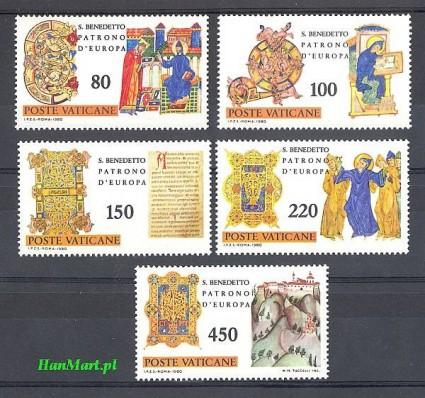 Znaczek Watykan 1980 Mi 759-763 Czyste **
