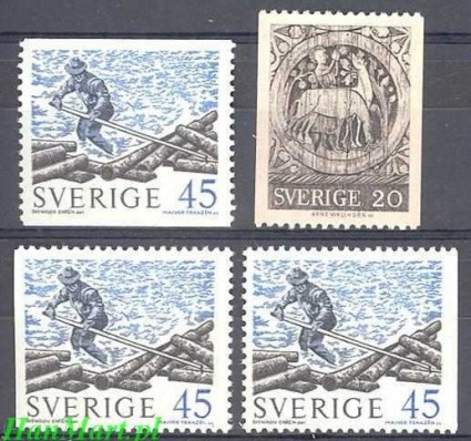 Szwecja 1970 Mi 665c-666a,dl,dr Czyste **