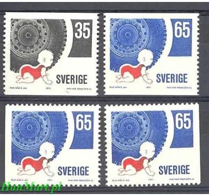 Szwecja 1971 Mi 721a-722a,dl,dr Czyste **