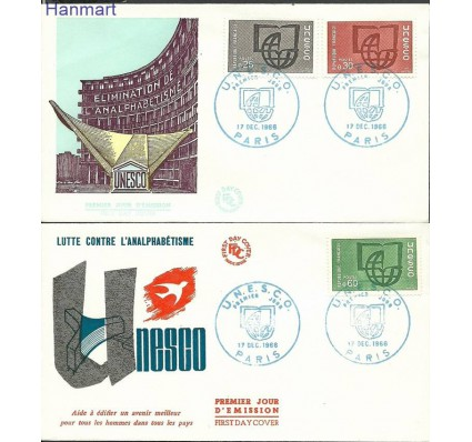 Francja 1966 Mi une6-8 FDC